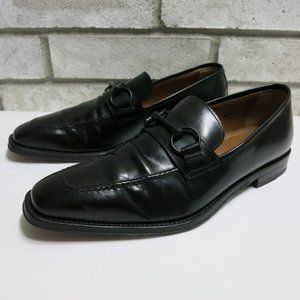 Antonio Maurizi Horse Bit Leather Dress Loafers